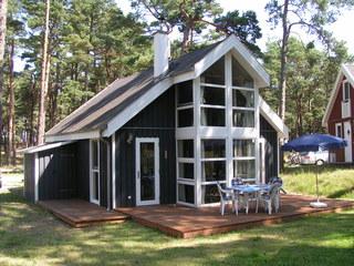 H: Ferienhaus Walddüne - Strandpark Baabe - ca.100m Strand Außenansicht
