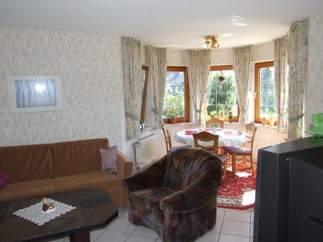 Ansicht des Wohn- Esszimmers