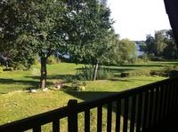 Ferienhaus Müritzblick (70 m zum Ufer) Blick vom Balkon