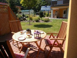 Zempin Ostseepark WE 17 **Insel Usedom**150m zum Strand** Terrasse mit Gartenmöbeln
