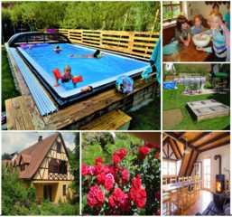 Ferienhof Hohe Beheizter Pool Bio Bauernhof Hohe fränkische Sc...