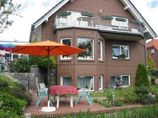 Ferienwohnung 1-68418 Blick auf die Hinterfront des Hauses