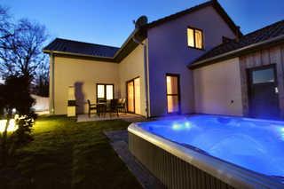 Luxus-Ferienhaus CASA SUENO Abendstimmung im Haus Casa Sueno