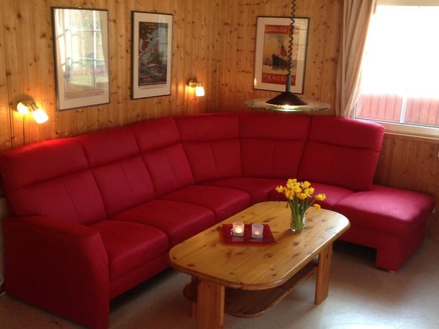 Schwedenhaus Seeblick: Blick ins Wohnzimmer