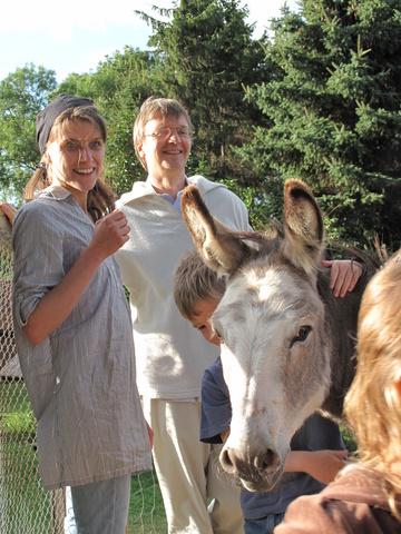Gäste mit unserem Esel