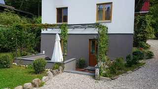 Ferienwohnung Kiental Terrasse mit Pergola