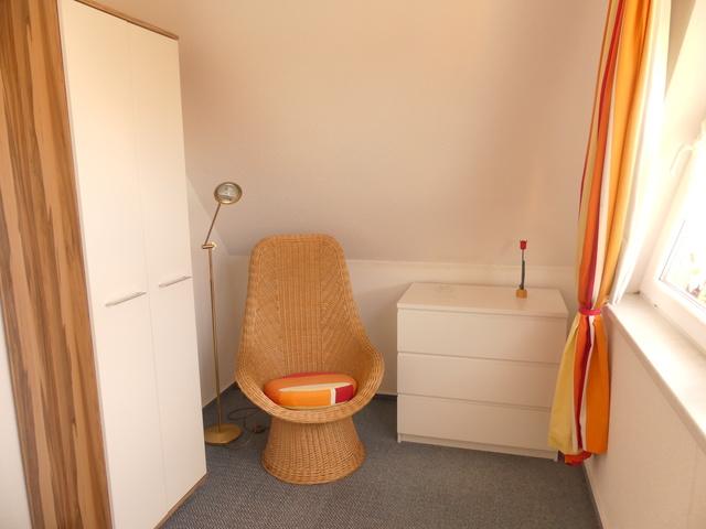 Blick in das kleine Schlafzimmer