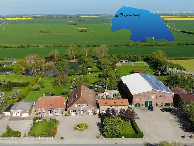 Fehmarn - Bauernhof Wohler Luftaufnahme vom Ferienhof Wohler in Bojendorf