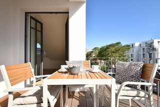 Sandkastenliebe Villa Sofie Balkon mit Ausblick