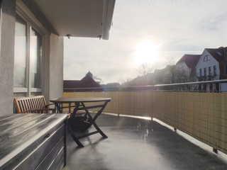 Fewo Kapitänskajüte Felten großer Balkon