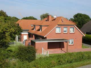 Haus Ute Doppelhaus Viethstr. 21 vom Deich aus vorderer ...