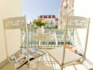 Bansin_Villa Frohsinn Whg. 7 Balkon