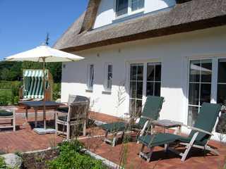 Windrose Terrasse mit Gartenmöbeln