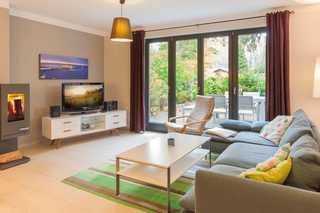 Villa Baltic Beach offener Wohnbereich mit Zugang zur Terrasse