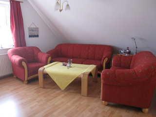 Ferienwohnung Arngast Wohnzimmer