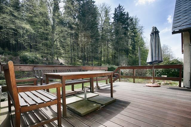 Privathaus Oppach / Jägerhaus Blick von der Terrasse