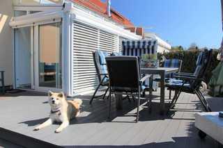 Usedomtourist Zinnowitz - DHH Ankerhaus (5*) Blick auf die Terrasse