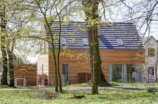 Ferienhaus Lillesol Hausansicht vom Kurpark