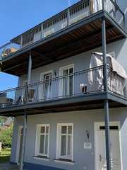 Ferienwohnung Villa Waldheim DH-27236 Sitzecke mit Strandkorb