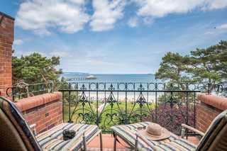 Ferienwohnung Villa Glückpilz im Ostseebad Binz auf Rügen Balkon