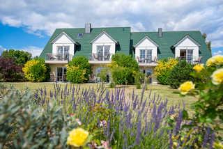 Ferienhaus An den Deichwiesen/DÜLS Haus vom Garten aus gesehen