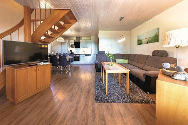 Ferienhaus SEEBLICK - Wohnzimmer und Küche