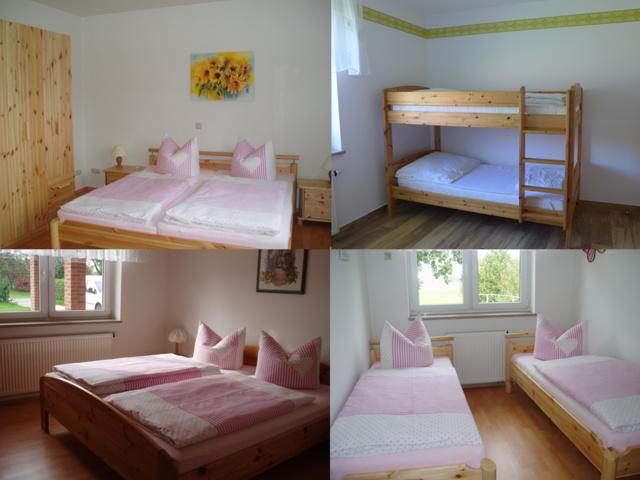3 Schlafzimmer mit insg. 8 Betten
