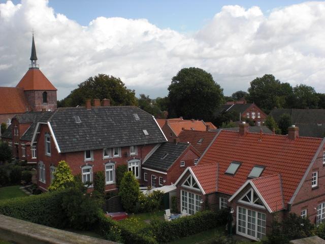 Der Blick von der Mühle auf das Dorf...