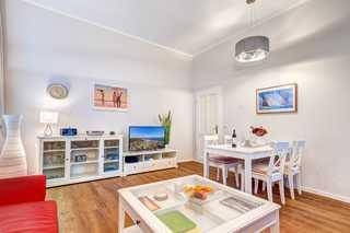 Bansin - Villa Anna Wohnung Bernstein Wohnzimmer