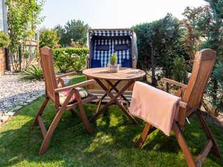 Ferienwohnung bei der Familie Prey Entspannen Sie im kleinen Garten