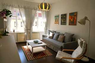 .Ferienwohnung Rösterei Arabica geräumiges Wohnzimmer