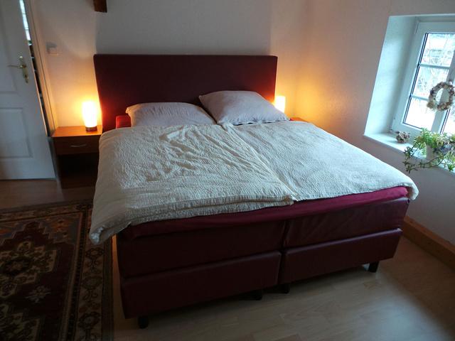Herrlich übernachten im Doppelbett im OG