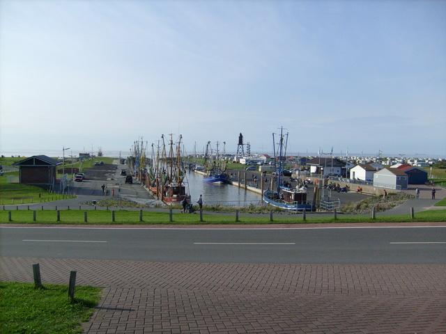 Dorum Tief mit Kutterhafen und Hafenterrassen