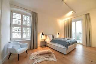 Fürst Malte Loft / Villa am Circus Schlafzimmer mit Doppelbett