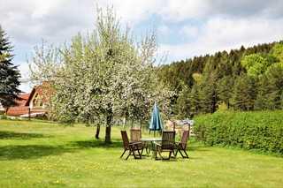 Ferienwohnung Röhrer Liegewiese Garten