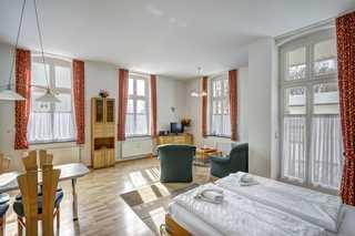 Bansin - Villa Frieda, Wohnung 6 Wohnzimmer