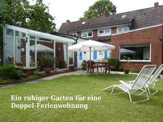 Ferienwohnung Loquard, 15168 Gartenansicht mit einer Sitzgelegenheit