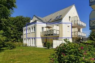 Usedomtourist Zinnowitz Dünenwald /18 Blaue Lagune Außenansicht des Hauses