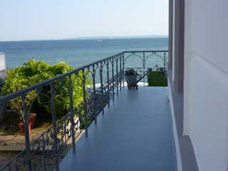 Ferienwohnung mit Meerblick Blick vom Balkon
