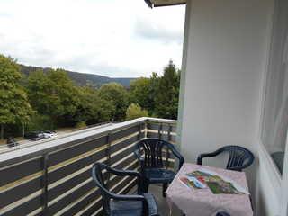 Ferienwohnung Hempel Haus K V 1-1 Aussicht von Balkon