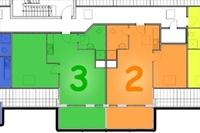 Grundriss Appartement 2 und 3