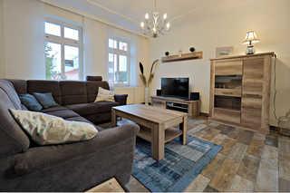 Villa Vergissmeinnicht 01 im Ostseebad Binz auf Rügen Großer gemütlicher Wohnraum