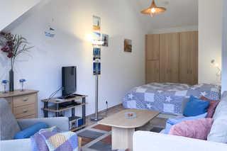 Residenz am Strand, Whg 123 Wohn- Schlafbereich