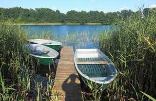 Ferienwohnungen in Carwitz Bootssteg mit Blick auf den Dreetzsee