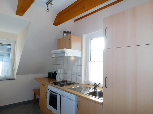 Küche im Obergeschoss links