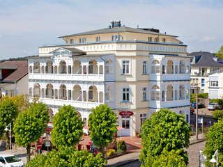 Villa Fernsicht F587 WG 3 im 1. OG mit riesigem Bäderbalkon Villa Fernsicht im Ostseebad Sellin Hausansicht