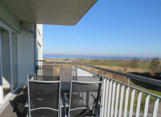 Ferienwohnung Vogelkieker Meerblick vom Balkon