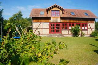 idyllisches Fachwerk-Ferienhaus in Godendorf Aussenansicht Ostseite
