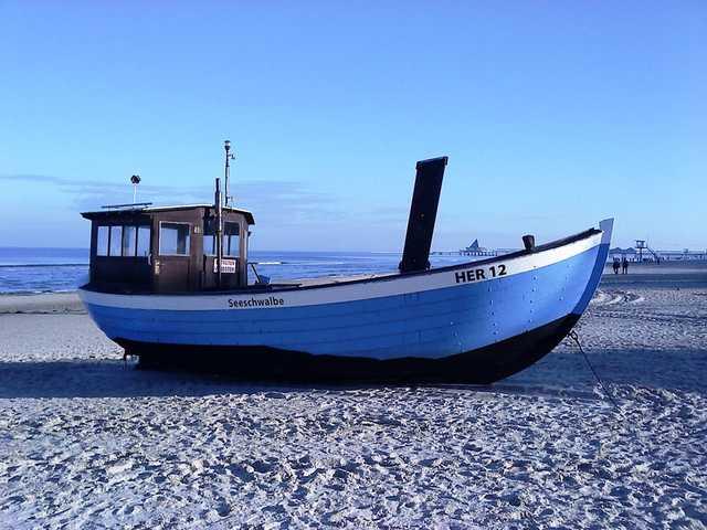 Fischerboot am Heringsdorfer Strand