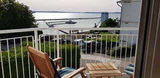Ferienappartement Fraenzi - mit herrlichem Seeblick Ausblick vom Balkon